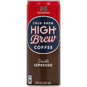 High Brew Coffee, Cold Brew, Double Espresso