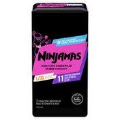 Ninjamas Nighttime Bedwetting Underwear Girl Size L/Xl
