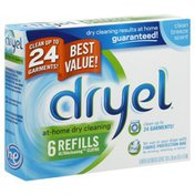 Dryel UltraCleaning Cloths, Refills, Clean Breeze Scent