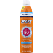 Equaline Sunscreen, Continuous Spray, Broad Spectrum SPF 50, Value Size