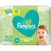 Pampers Baby Wipes Complete Clean Unscented 3X Refills (Tub Not Included)
