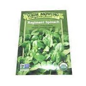 High Mowing Organic Seeds O.Regiment Spinach Seeds Hms
