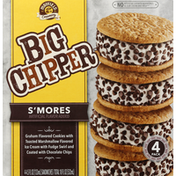 Friendly's Ice Cream Sandwiches, S'mores, 4 Pack
