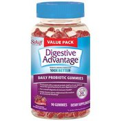 Digestive Advantage Daily Probiotic Natural Fruit Flavor Gummies - Supports Digestive & Immune Health