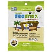 SeaSnax Roasted Seaweed Snack, Wasabi, Bag
