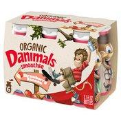 Danimals Organic Swingin' Strawberry Banana Smoothies