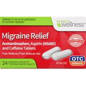 Family Wellness Migraine Relief, Coated Caplets