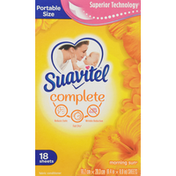 Suavitel Fabric Conditioner Sheets, Morning Sun, Portable Size