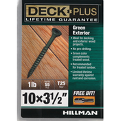 Deck Plus Screws, Green, Exterior