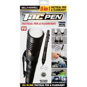 Bell and Howell Tactical Pen & Flashlight, 9 in 1