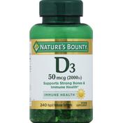 Nature's Bounty Vitamin D3, 50 mcg (2000 IU), Rapid Release Softgels