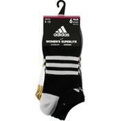adidas Women's Superlite Shine No Show Socks – 6 Pack
