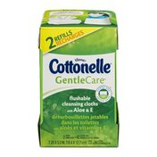Kleenex Cottonelle Gentle Care Flushable Cleansing Cloths with Aloe & E - 84 CT