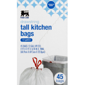 Food Lion Tall Kitchen Bags, Drawstring