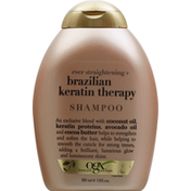 OGX Shampoo, Ever Strengthening + Brazilian Keratin Therapy
