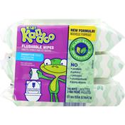 Kandoo Flushable Wipes, Sensitive