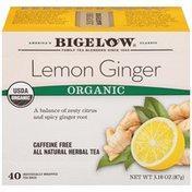 Bigelow Lemon Ginger Organic Caffeine Free Herbal Tea