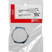 Pro Connex Conduit Locknut, Steel, Rigid, 1-1/4 Inches