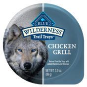 Blue Buffalo Wilderness Trail Trays High Protein, Natural Adult Wet Dog Food Cups, Chicken Grill