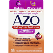 Azo Bladder Control, with Go-Less & Weight Management, Capsules