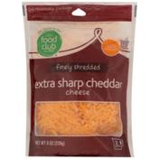 Food Club Extra Sharp Cheddar Finely Shredded Cheese