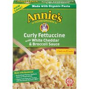 Annie's Curly Fettuccine with White Cheddar & Broccoli Sauce Pasta Meals