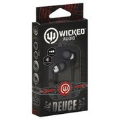 Wicked Earbuds, Deuce, Black