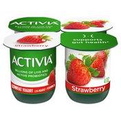 Activia Low Fat Probiotic Strawberry Yogurt