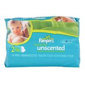 Pampers Natural Aloe Unscented Baby Wipes