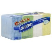 Dixie Napkins, Assorted Colors,  Family Pack, 1-Ply
