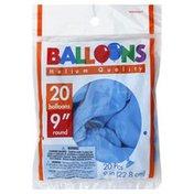 Amscan Balloons, 9 Inch, Helium Quality, Round, Powder Blue
