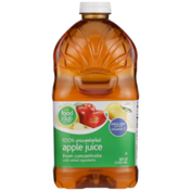 Food Club 100% Unsweetened Apple Juice From Concentrate With Added Ingredients