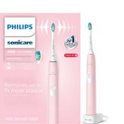 Philips Sonicare ProtectiveClean 4100 Plaque Control, Rechargeable electric toothbrush with pressure sensor, Pastel Pink HX6816/01