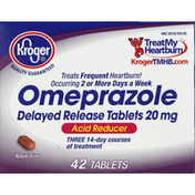 Kroger Omeprazole, 20 mg, Delayed Release Tablets