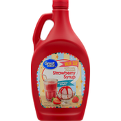 Great Value Syrup, Strawberry, Value Size