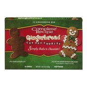 Complete Recipe Gingerbread Cut Out Cookies - 10 CT