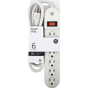 GE Power Strip, 6 Outlets, 3 Feet
