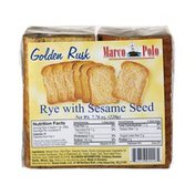 Marco Polo Golden Rusk Rye with Sesame Seed Toast