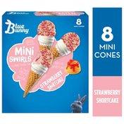 Blue Bunny Mini Swirls Strawberry Shortcake Cones