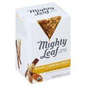 Mighty Leaf Herbal Tea, Whole Leaf, Organic Turmeric Ginger, No Caffeine, Sachets