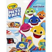 Crayola Coloring Book, Mess Free, Baby Shark