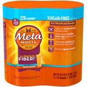 Metamucil Smooth Metamucil Psyllium Fiber Supplement by Meta Orange Smooth Sugar Free Powder Twin Pack 46.6 oz 114 doses Laxative