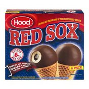 Hood Red Sox Chocolate Dipped Sundae Cones Fudge Center - 6 CT