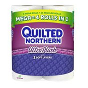 Quilted Northern Ultra Plush® Toilet Paper, 6 Mega Rolls, Bath Tissue
