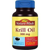 Nature Made Krill Oil 300 mg Helps Support a Healthy Heart, Superior Absorption, No Fish Odor or Aftertaste DIETARY SUPPLEMENT SOFTGELS