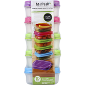 Fit & Fresh Containers, 10 Pieces