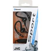 Jvc Headphones, Wireless, Sport, Bluetooth, Black