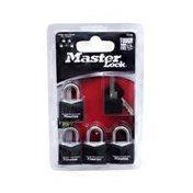 Master Lock Brass Padlock With a Black Vinyl Cover