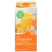 Food Club No Pulp Original 100% Orange Juice From Concentrate