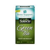 Salada Green Tea Bags Bone Support Hibiscus Cherry - 20 CT